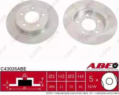 ABE C43026ABE - Тормозной диск sparts.com.ua