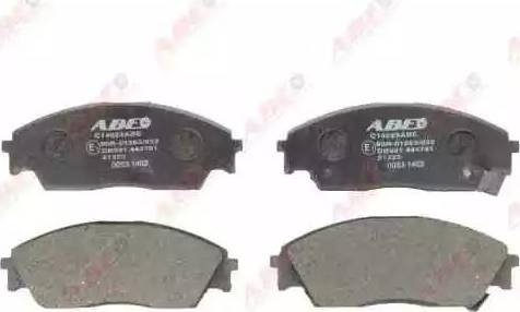 ABE C14023ABE - Тормозные колодки, дисковые sparts.com.ua
