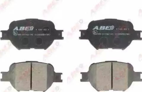 ABE C12092ABE - Тормозные колодки, дисковые sparts.com.ua