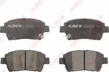 ABE C12086ABE - Тормозные колодки, дисковые sparts.com.ua