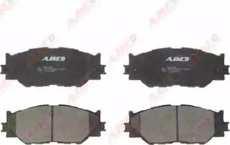 ABE C12126ABE - Тормозные колодки, дисковые sparts.com.ua