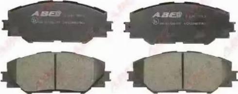 ABE C12122ABE - Тормозные колодки, дисковые sparts.com.ua