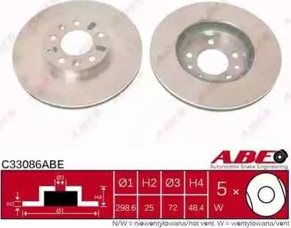 ABE C33086ABE - Тормозной диск sparts.com.ua
