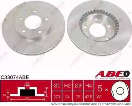 ABE C33074ABE - Тормозной диск sparts.com.ua