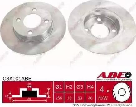 ABE C3A001ABE - Тормозной диск sparts.com.ua