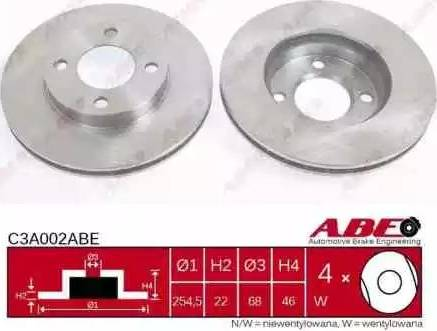 ABE C3A002ABE - Тормозной диск sparts.com.ua