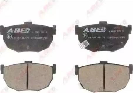 ABE C21026ABE - Тормозные колодки, дисковые sparts.com.ua