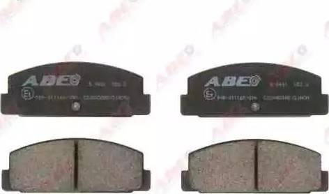 ABE C23002ABE - Тормозные колодки, дисковые sparts.com.ua