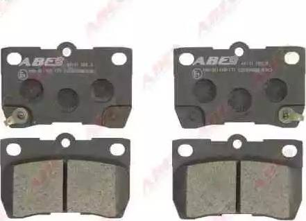 ABE C22033ABE - Тормозные колодки, дисковые sparts.com.ua