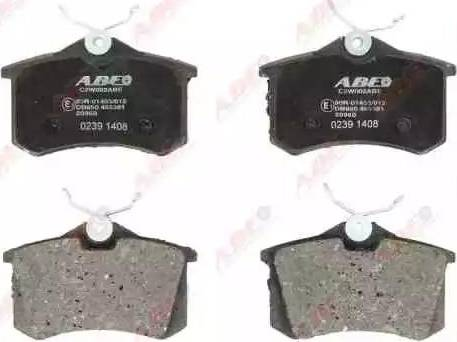 ABE C2W002ABE - Тормозные колодки, дисковые sparts.com.ua