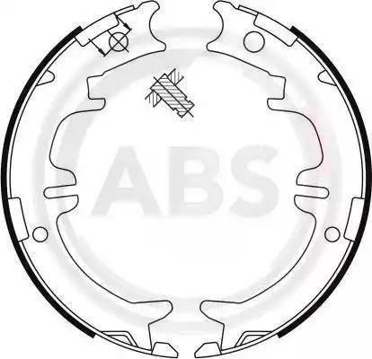 A.B.S. 9114 - Комплект тормозов, ручник, парковка sparts.com.ua