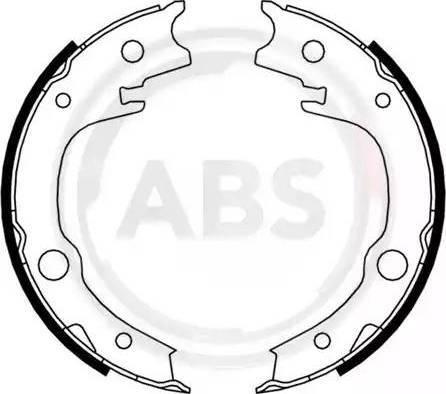 A.B.S. 9182 - Комплект тормозов, ручник, парковка sparts.com.ua