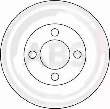 A.B.S. 15749 - Тормозной диск sparts.com.ua