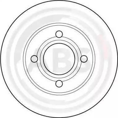 A.B.S. 15746 - Тормозной диск sparts.com.ua