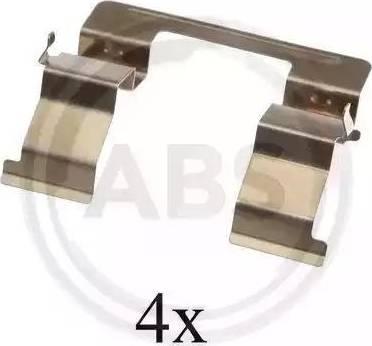 A.B.S. 1605Q - Комплектующие для колодок дискового тормоза sparts.com.ua