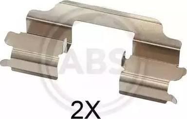 A.B.S. 1709Q - Комплектующие для колодок дискового тормоза sparts.com.ua