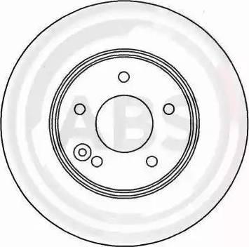 A.B.S. 17017 - Тормозной диск sparts.com.ua