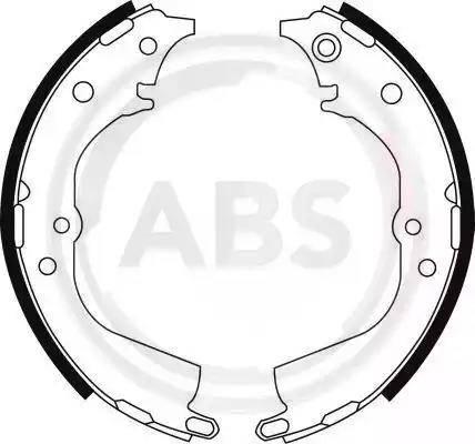A.B.S. 8944 - Комплект тормозных башмаков, барабанные sparts.com.ua