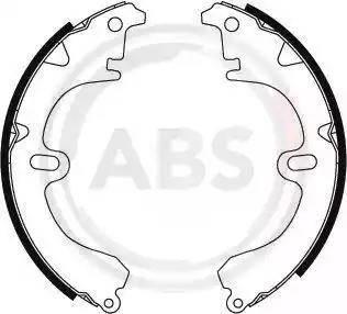A.B.S. 8594 - Комплект тормозных башмаков, барабанные sparts.com.ua