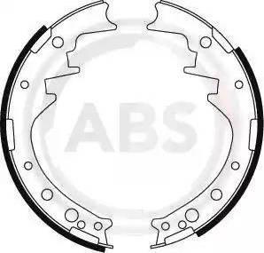 A.B.S. 8554 - Комплект тормозных башмаков, барабанные sparts.com.ua