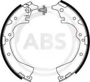 A.B.S. 8580 - Комплект тормозных башмаков, барабанные sparts.com.ua