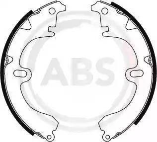 A.B.S. 8653 - Комплект тормозных башмаков, барабанные sparts.com.ua