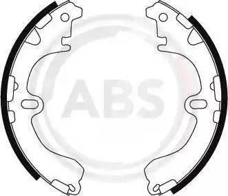 A.B.S. 8844 - Комплект тормозных башмаков, барабанные sparts.com.ua