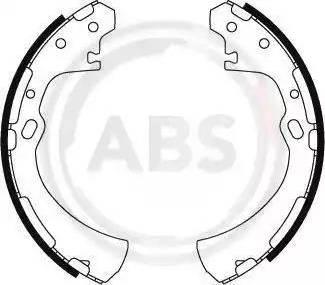 A.B.S. 8848 - Комплект тормозных башмаков, барабанные sparts.com.ua