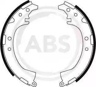 A.B.S. 8866 - Комплект тормозных башмаков, барабанные sparts.com.ua