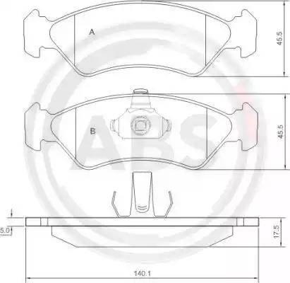 A.B.S. 36996 - Тормозные колодки, дисковые sparts.com.ua