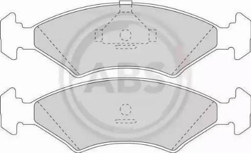 A.B.S. 36446 - Тормозные колодки, дисковые sparts.com.ua