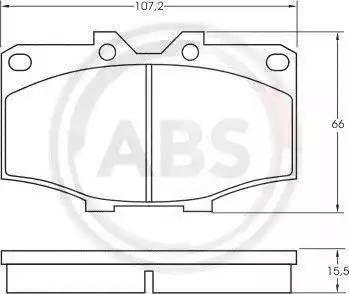A.B.S. 36462 - Тормозные колодки, дисковые sparts.com.ua