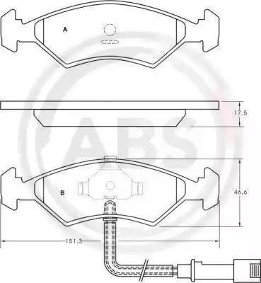 A.B.S. 36485 - Тормозные колодки, дисковые sparts.com.ua
