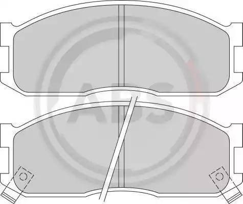 A.B.S. 36642/1 - Тормозные колодки, дисковые sparts.com.ua
