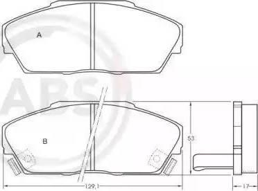 A.B.S. 36639 - Тормозные колодки, дисковые sparts.com.ua