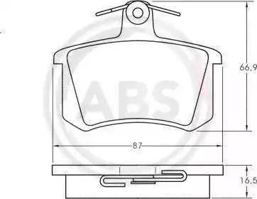 A.B.S. 36818 - Тормозные колодки, дисковые sparts.com.ua
