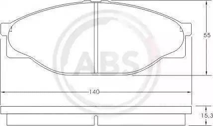 A.B.S. 36761 - Тормозные колодки, дисковые sparts.com.ua