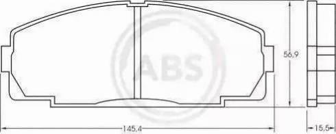 A.B.S. 36702 - Тормозные колодки, дисковые sparts.com.ua
