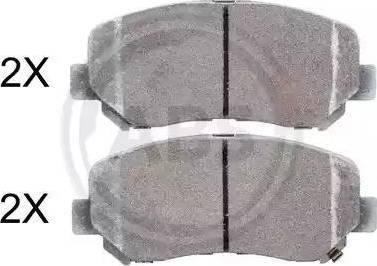 A.B.S. 37929 - Тормозные колодки, дисковые sparts.com.ua