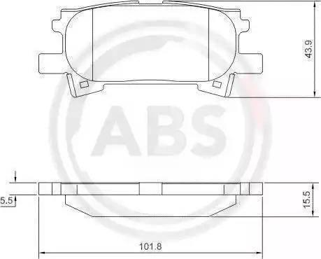 A.B.S. 37459 - Тормозные колодки, дисковые sparts.com.ua