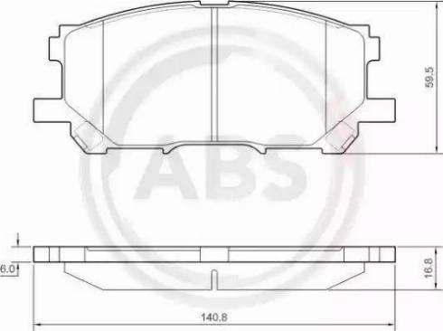 A.B.S. 37458 - Тормозные колодки, дисковые sparts.com.ua