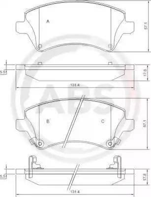 A.B.S. 37405 - Тормозные колодки, дисковые sparts.com.ua