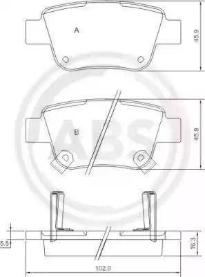 A.B.S. 37401 - Тормозные колодки, дисковые sparts.com.ua