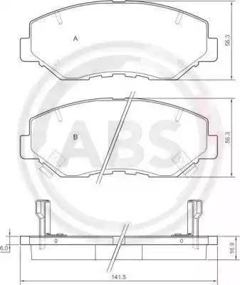 A.B.S. 37424 - Тормозные колодки, дисковые sparts.com.ua