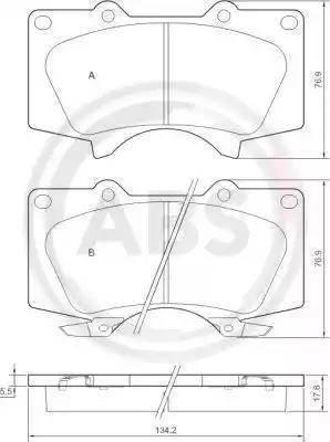 A.B.S. 37420 - Тормозные колодки, дисковые sparts.com.ua