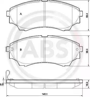 A.B.S. 37540 - Тормозные колодки, дисковые sparts.com.ua