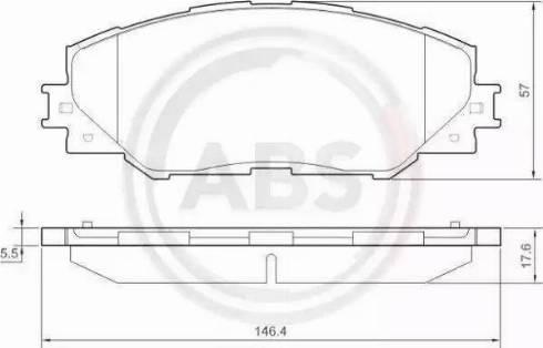 A.B.S. 37543 - Тормозные колодки, дисковые sparts.com.ua