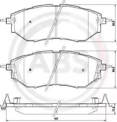 A.B.S. 37502 - Тормозные колодки, дисковые sparts.com.ua