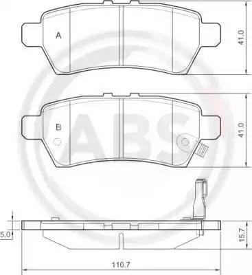 A.B.S. 37536 - Тормозные колодки, дисковые sparts.com.ua