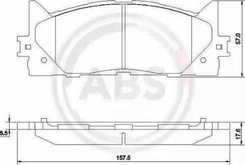 A.B.S. 37677 - Тормозные колодки, дисковые sparts.com.ua